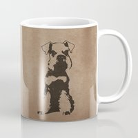 schnauzer Mugs featuring Miniature Schnauzer by illustrious state