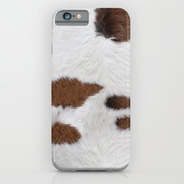 Cow Fur Texture iPhone Case