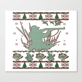 Duck Hunting Christmas Canvas Print