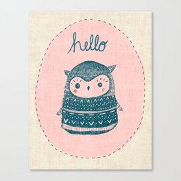 Friendly Owl Canvas Print