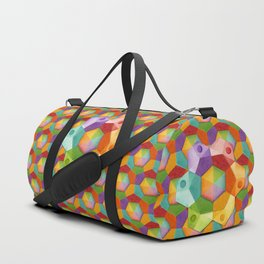 Rainbow Hexagons Duffle Bag