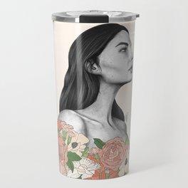 Blushing Blossoms Travel Mug