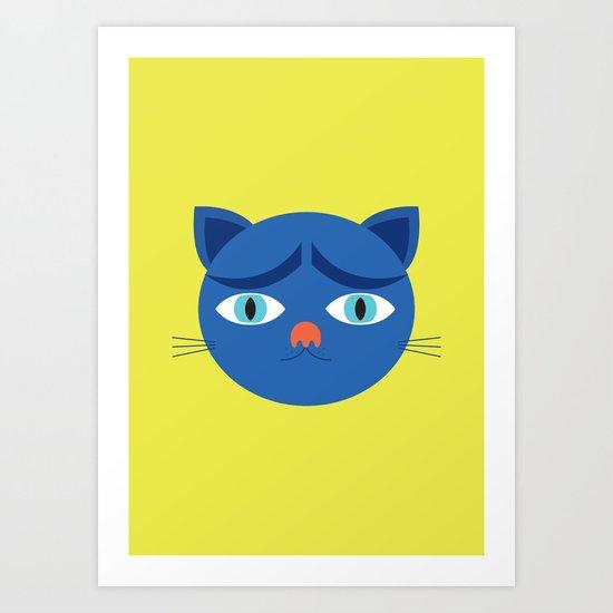 Troubled Cat Art Print