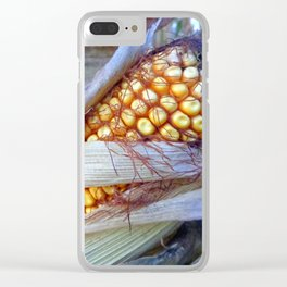 Yellow Field Corn Clear iPhone Case