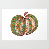 pumpkin Art Prints featuring Pumpkin by Laura Maxwell