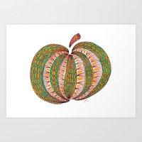 pumpkin Art Prints featuring Pumpkin by Laura Maxwell