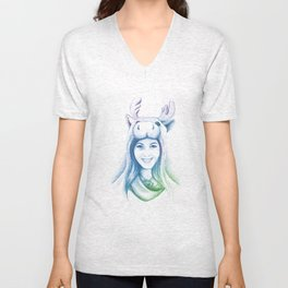 Speechless Collection - Moose Woman Unisex V-Neck