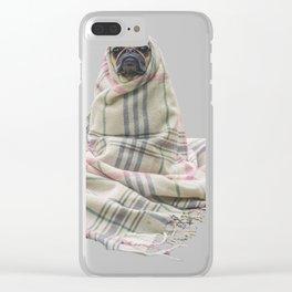 Snuggle Pug Clear iPhone Case