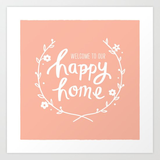 Happy Home Art Print