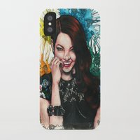 emma stone iPhone & iPod Cases featuring Emma Stone by catscratchproject