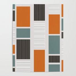 Mid Century Modern Panels Poster