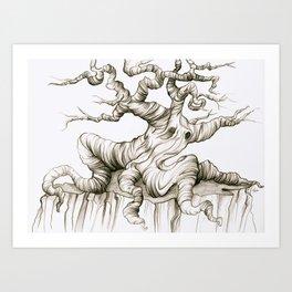 Sad Sad Tree Art Print