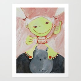 Ima's Hippopotamus Art Print