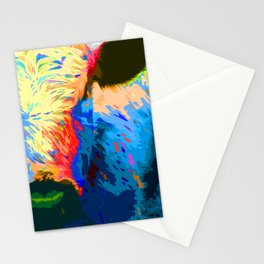 The cow of many colors Stationery Cards