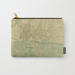 Vintage Map of Port Au Prince Haiti (1899) Carry-All Pouch