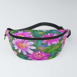 Pink Daisies Flower Party 1 by Jennifer Berdy Fanny Pack