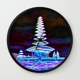 Bali, Magical Temple Light Wall Clock