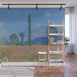 Poppy Field - Giverny Landscape Painting by Claude Monet Wall Mural