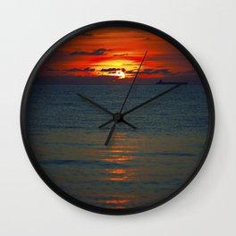 Fire in the Sea Wall Clock