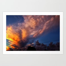 Winged Sunset Art Print