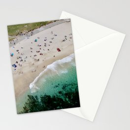 An aerial shot of Bronte Beach in Sydney Australia Stationery Cards
