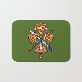 Ninja Pizza Bath Mat