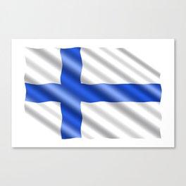 Waving Finland flag Canvas Print