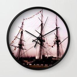 Pink Ship Wall Clock