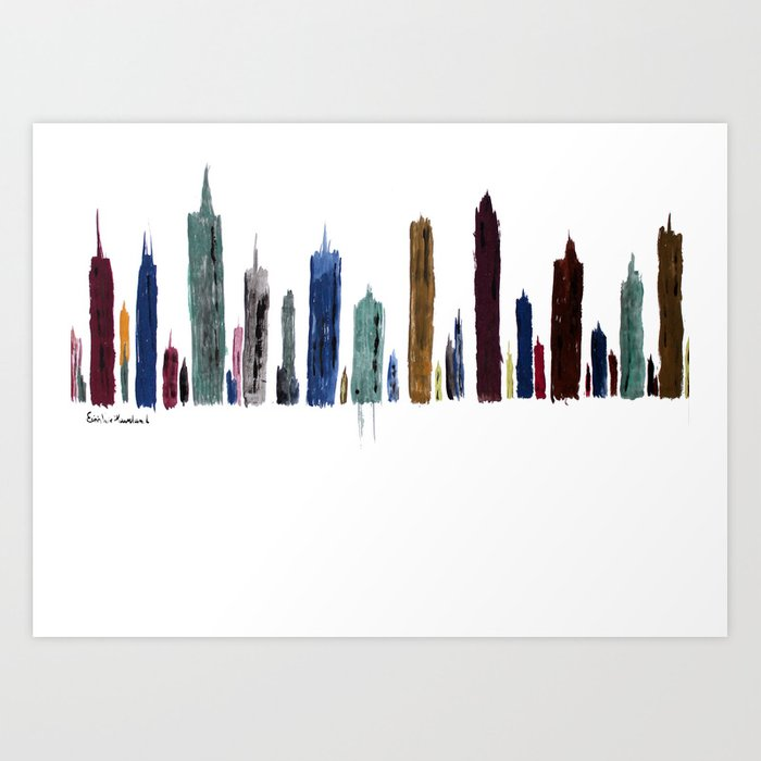 The New City Art Print