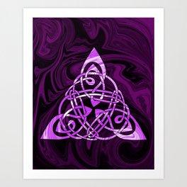Celtic Triangle in Purple Art Print