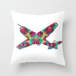 avion fleur 5 Throw Pillow