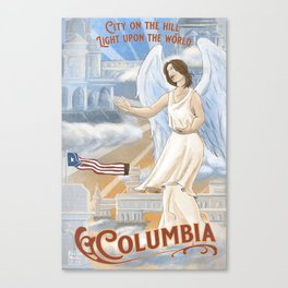 Columbia - City on the Hill Canvas Print