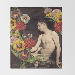 In Bloom (mature) Throw Blanket