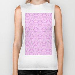 Delicate Pink Lavender Pattern Design Biker Tank