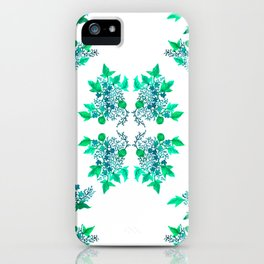 Blue Coralline Flowers iPhone Case