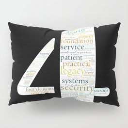 Life Path 4 (black background) Pillow Sham