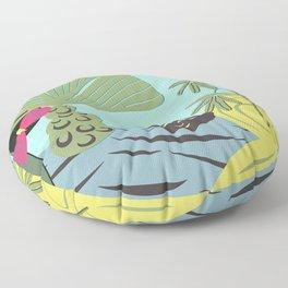 Mojo in the garden Floor Pillow
