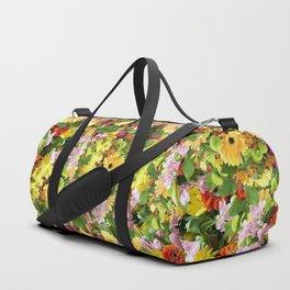 Floral Bloom Spring Pattern Duffle Bag