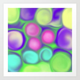 Fruity colours Art Print