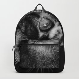 kitten in black and white Backpack