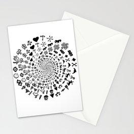 Love Symbol Mandala Black on White Stationery Cards