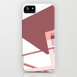 Pink California life guard tower iPhone Case