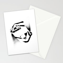 Spraying Hands Stationery Cards