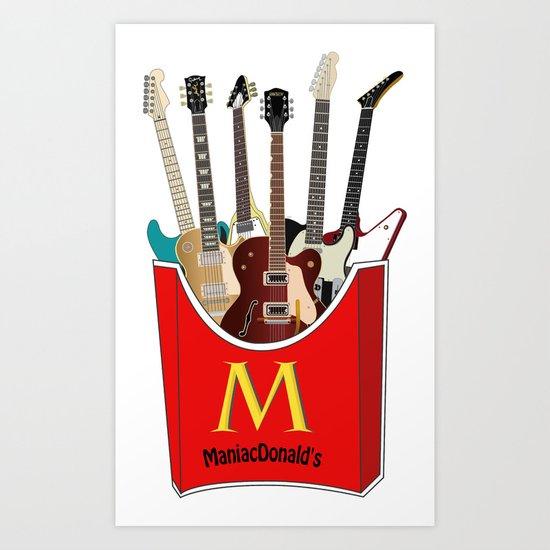 Maniac Donald's guitar potato Art Print