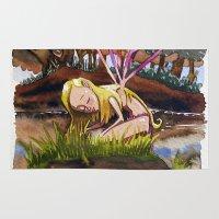 fairy Area & Throw Rugs featuring Fairy by Jose Luis Ocana