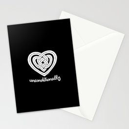 UNCONDITIONALLY in white Stationery Cards