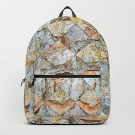 Pine bark pattern in diamonds shapes Backpack