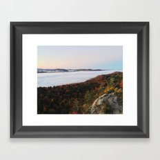 Adirondack Fog At Sunrise Framed Art Print