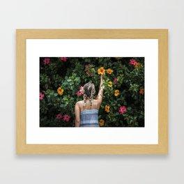 Hibiscus Girl Framed Art Print