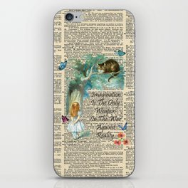 Alice In Wonderland Quote - Imagination - Dictionary Page iPhone Skin